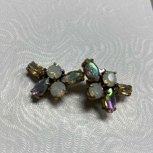 J Crew Cluster Stone Earrings